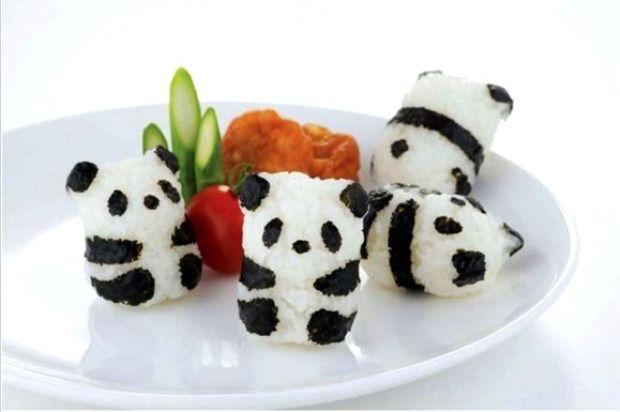 dela cias do japa o com formatos de panda onigiri panda mundo nipo
