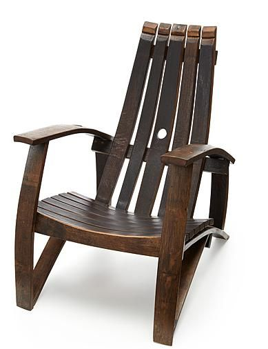 Chair Reclaimed Wine Barrels Uncommon Goods Upcycled