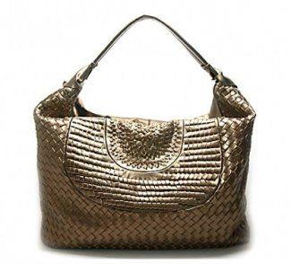 Bottega Veneta Woven - Bronze #Bottega #Veneta #Handbags #Bronze $387 ,( ⊙o⊙?) JUST GOT IT ON SALE!~` ……❤❤❤……