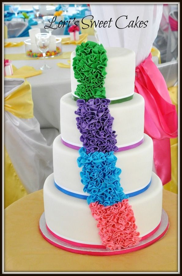 Rainbow Theme Wedding Rainbow Wedding Theme Pinterest Rainbow