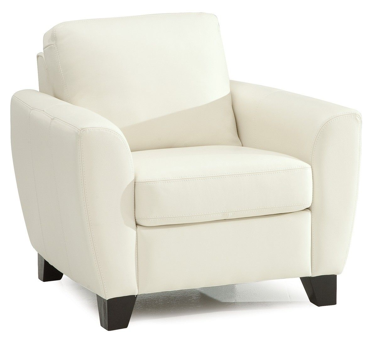 Marymount Armchair in Broadway Alabaster leather Grade 3000