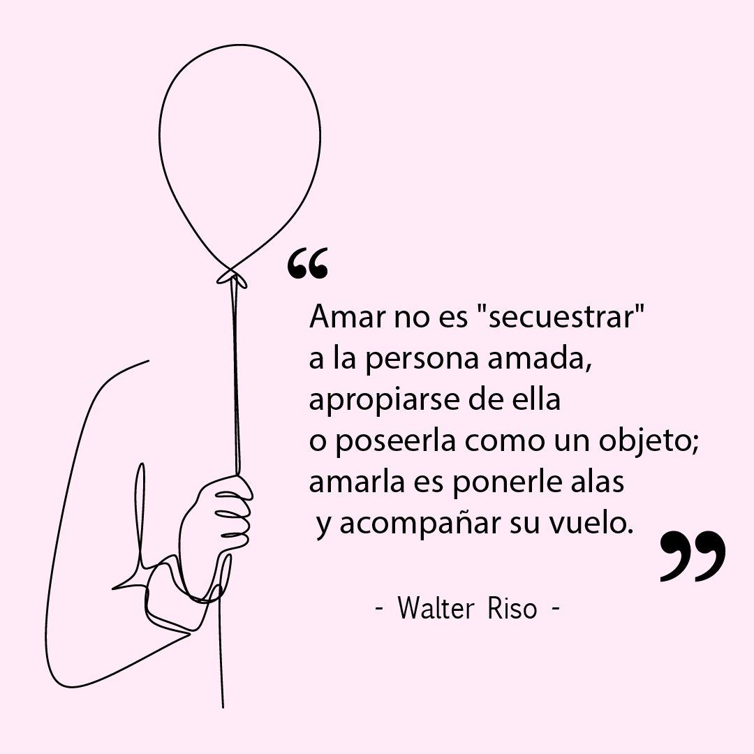 """Walter Riso on Instagram: """"Para amar no hay que """"morir de amor"""", sufrir, desvanecerse, perder el norte, ser uno con el otro o perder la identidad: eso es intoxicación…"""""""