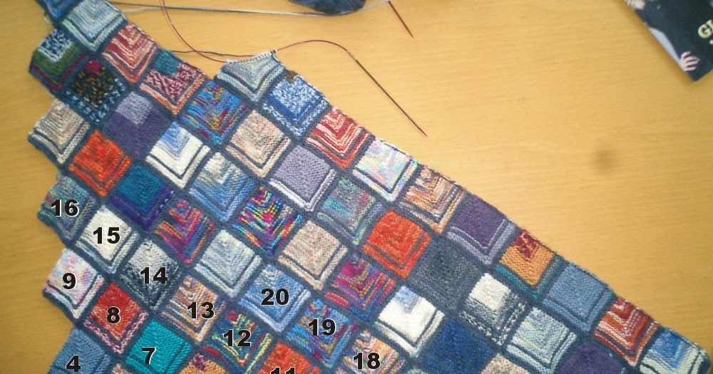 Photo of Since I am always asked how this blanket is knitted, I write …