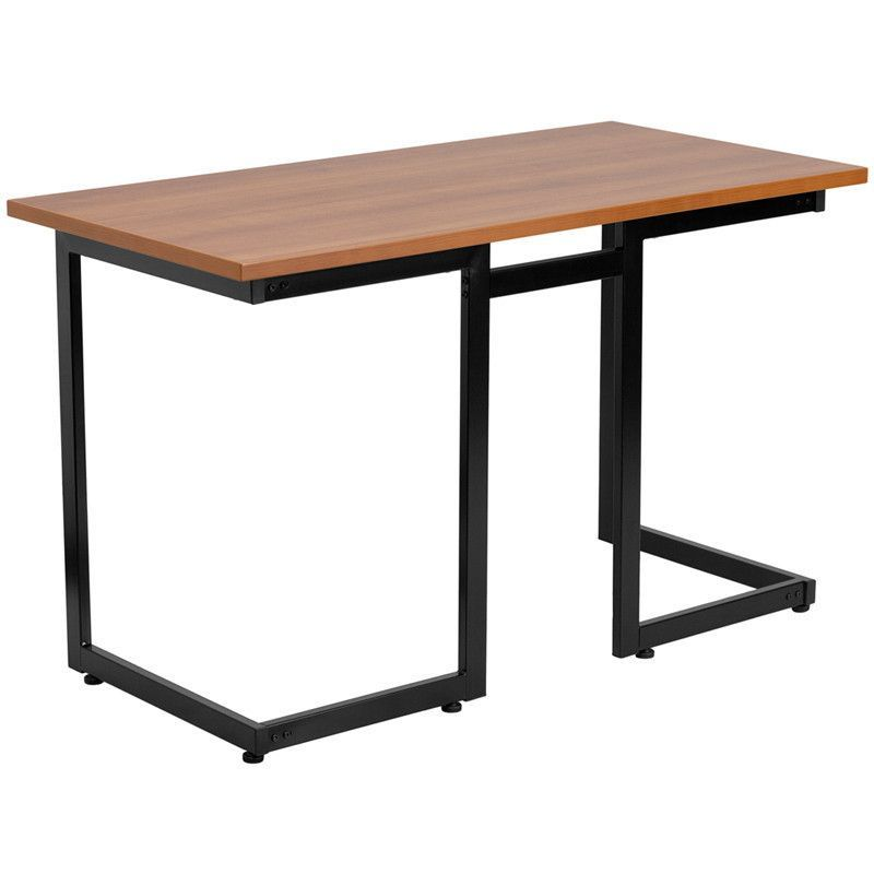 Flash Furniture NAN JN 2811 GG Cherry puter Desk with Black Frame