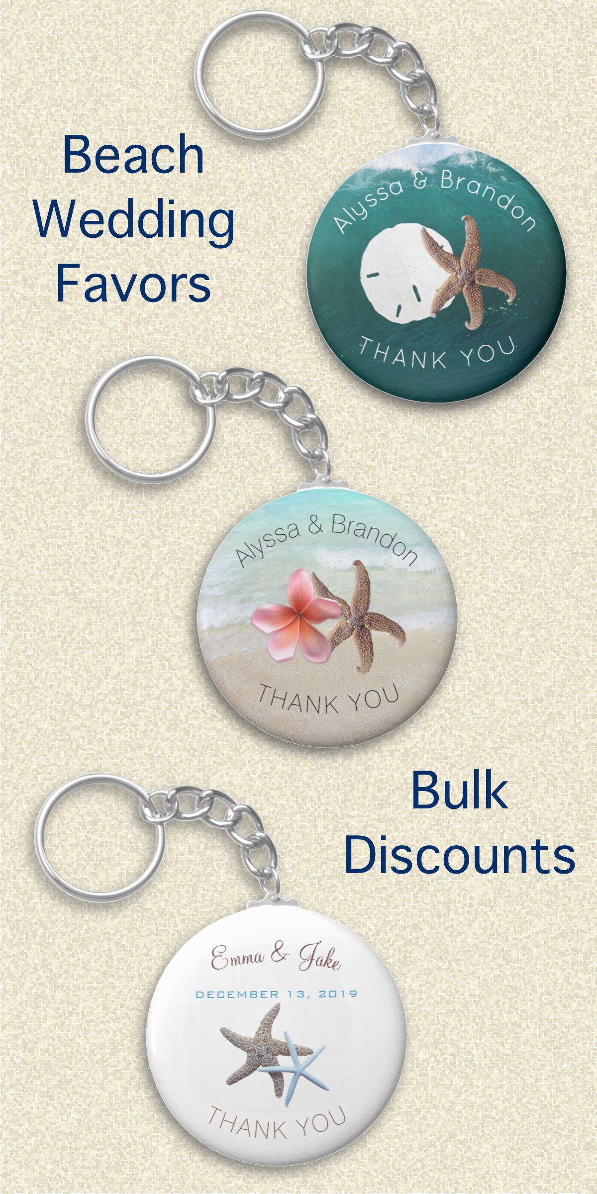 Starfish, exotic flowers, beach themes, Hawaiian weddings, small key ...