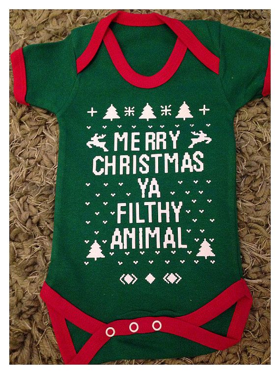 xmas merry christmas ya filthy animal funny design bodysuit onesie on etsy 13 26
