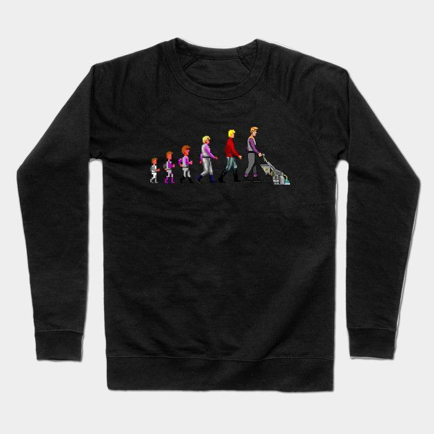 The Evolution Of A Space Janitor Crewneck Sweatshirt