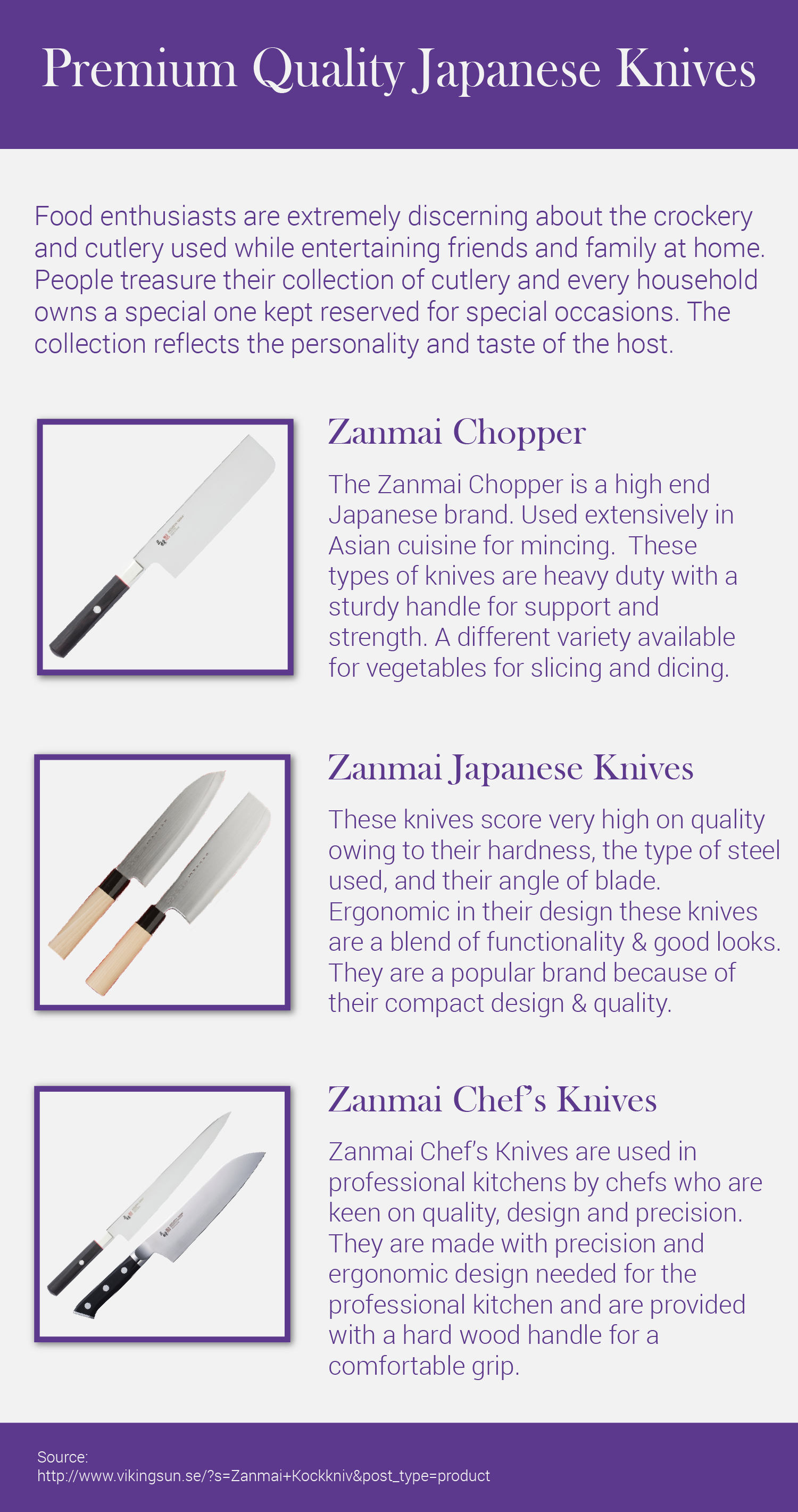 Japanese knives are the favorite knives of professional chefs ...