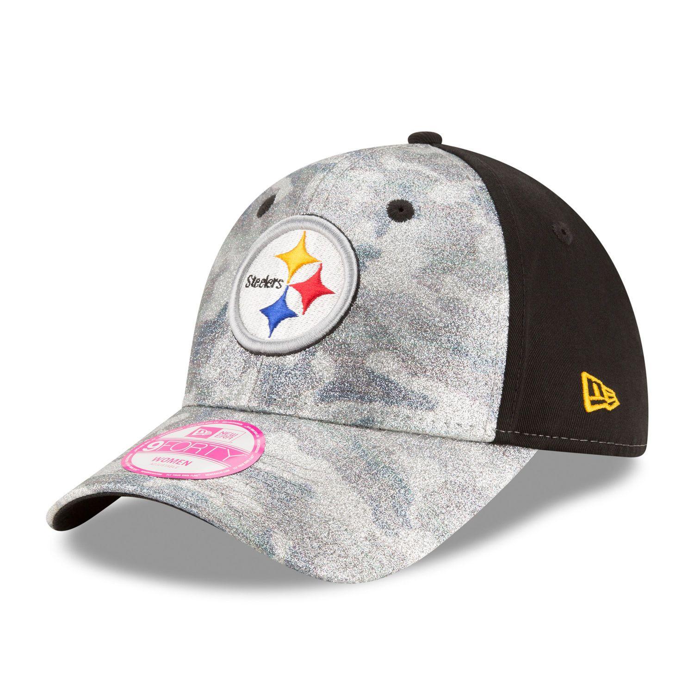 08e4039600c68 Women s Pittsburgh Steelers New Era Gray Black Glamo Camo 9FORTY ...