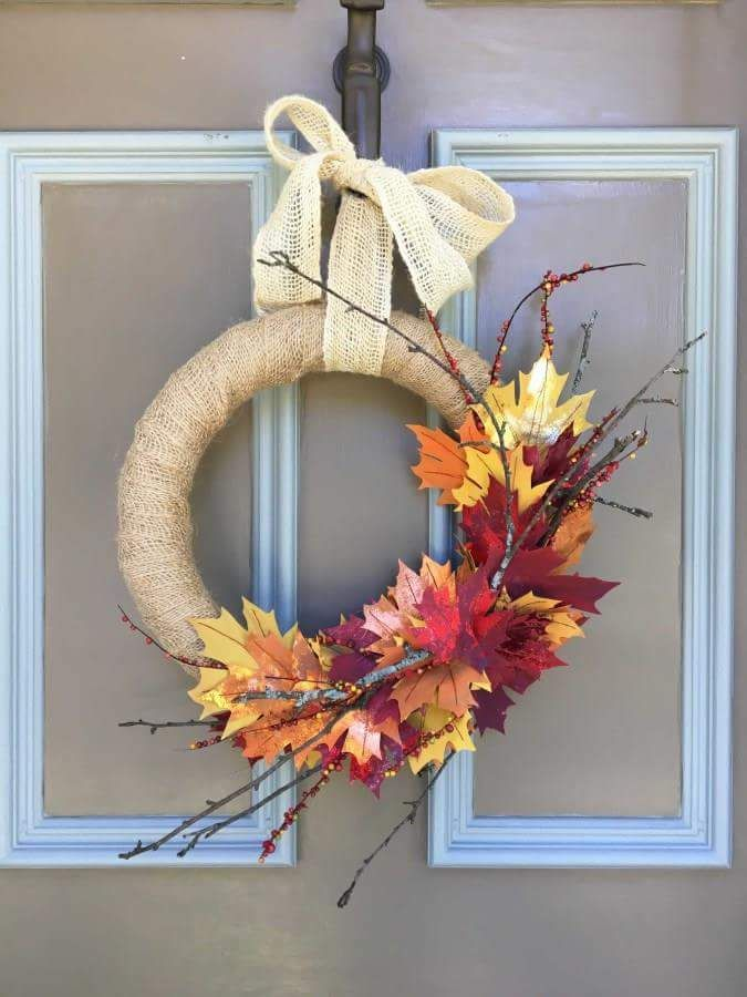 38 lovely autumn crafts with fall leaves you must try