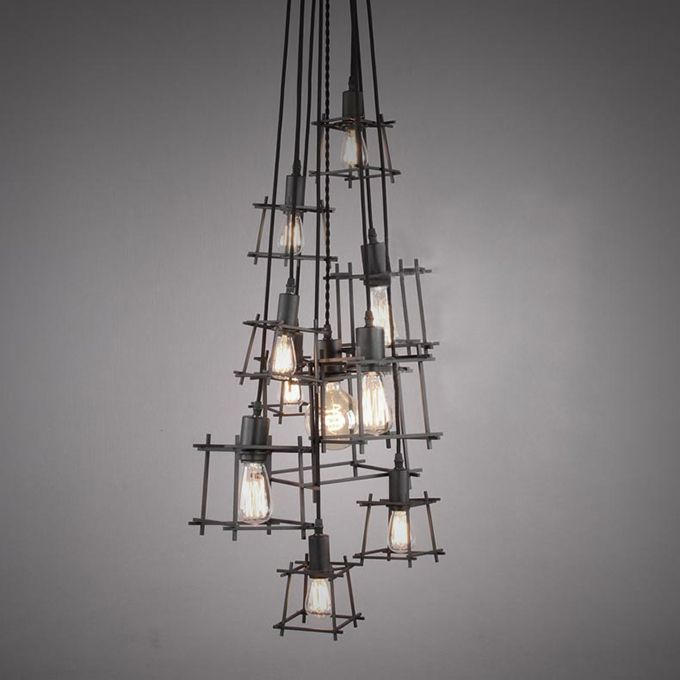 Zhongshan Lighting Loft Retro Iron Multi Bird Cage Metallic Casting  Industria Chandelier/pendant Light/