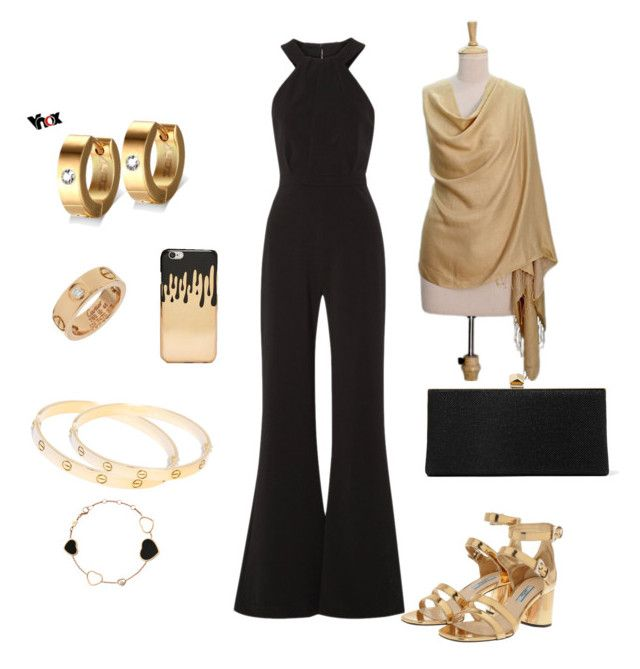"""""""Gala, fundraiser, philanthropy ..."""" by yogalover1960 on Polyvore featuring Saloni, Cartier, NOVICA, Jimmy Choo, Chopard, Prada and Missguided"""