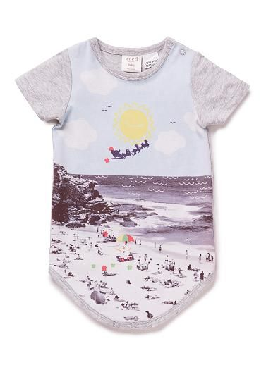 christmas digital print onesie from seed heritage for the hipster bub
