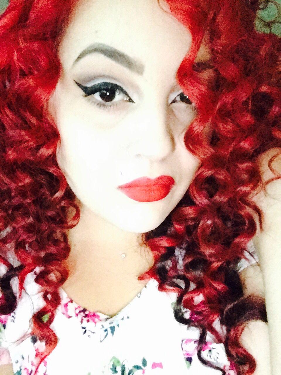Red Hair Red Curlz Splat Crimson Obsession Mac Rubywoo Anastasia Dipbrow Dark Brown Splat Crimson Obsession Red Hair Splat Hair Color