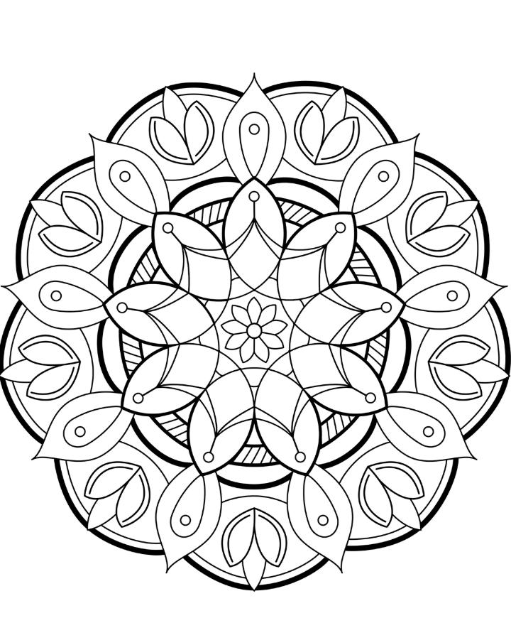 mandalas färbung  coloring  malvorlagen mandala