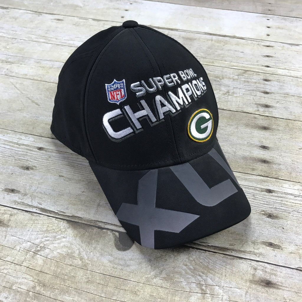 e828ad4dc52 Reebok On Field Super Bowl XLV Green Bay Packers Champions Flex Fit ...