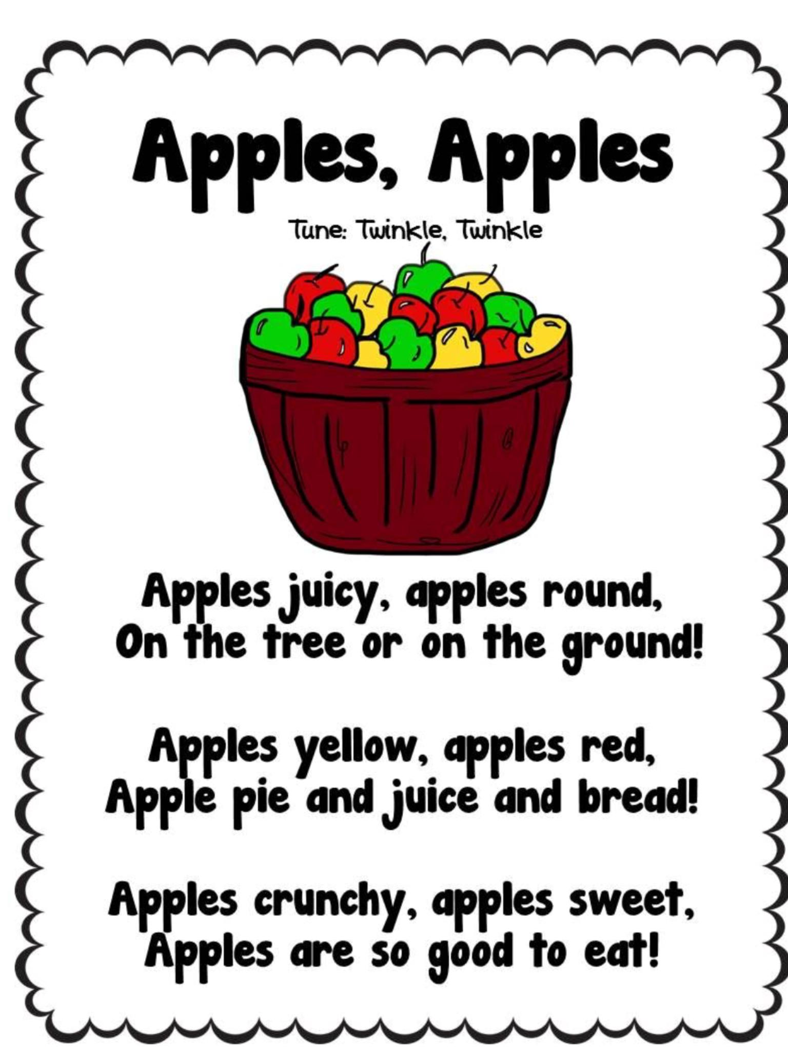 Preschool apple theme