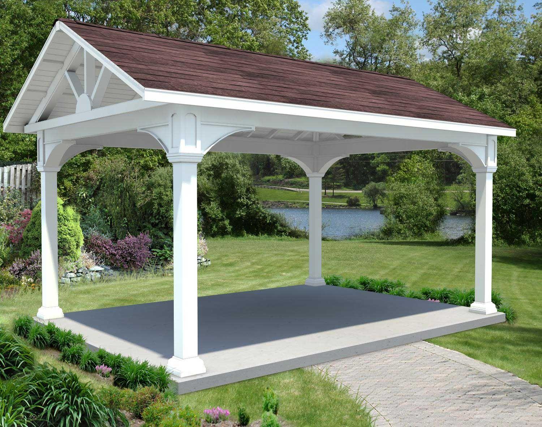 vinyl gable roof open rectangle gazebos with vinyl gable siding
