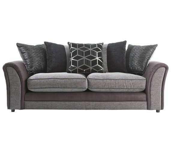 Buy Collection Rhiannon Compact 3 Seater Sofa Black At Argos Co