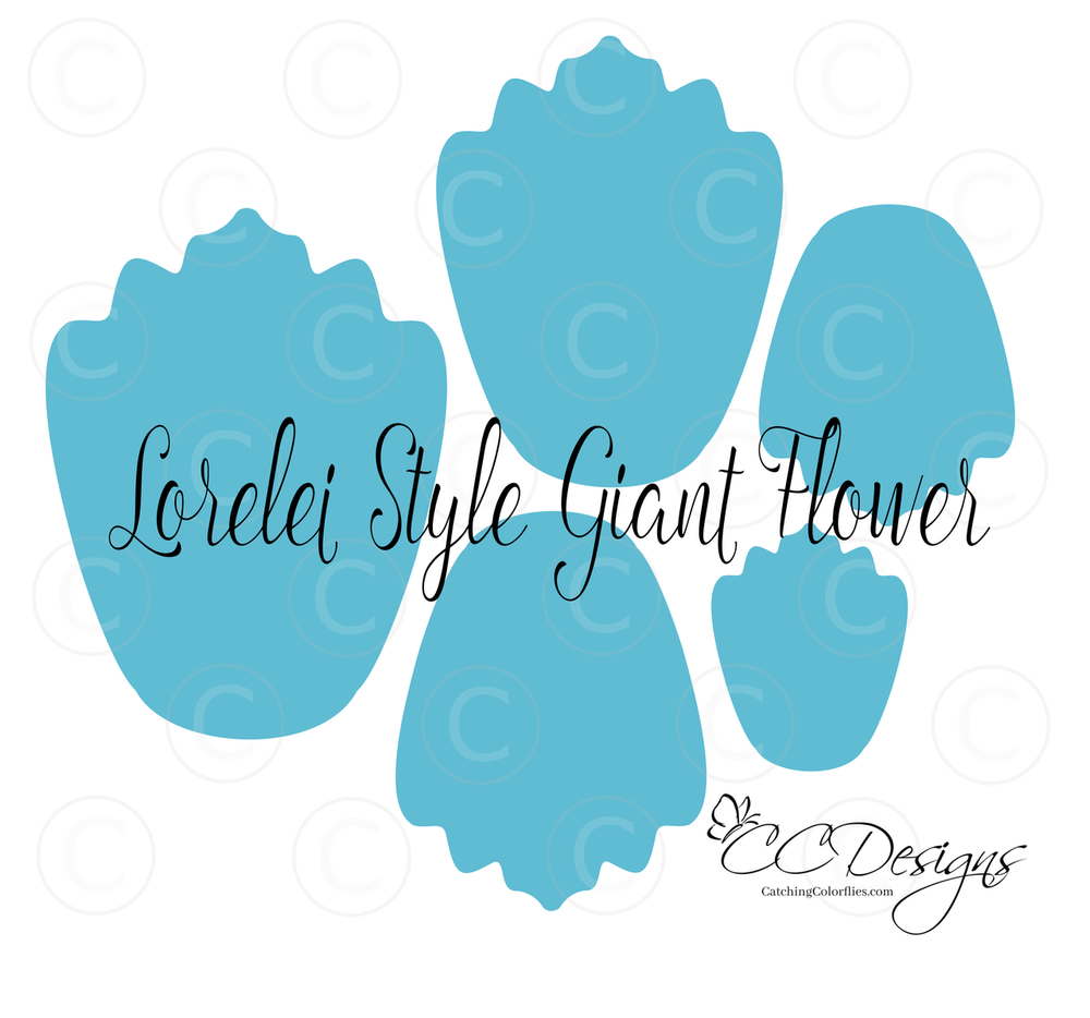 Giant Paper Flower Template- Lorelei Style | Template, Flower and ...