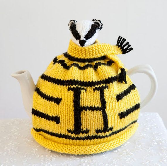 Harry Potter Inspired Hufflepuff Tea Cosy by CrystalMoonCat on Etsy ...