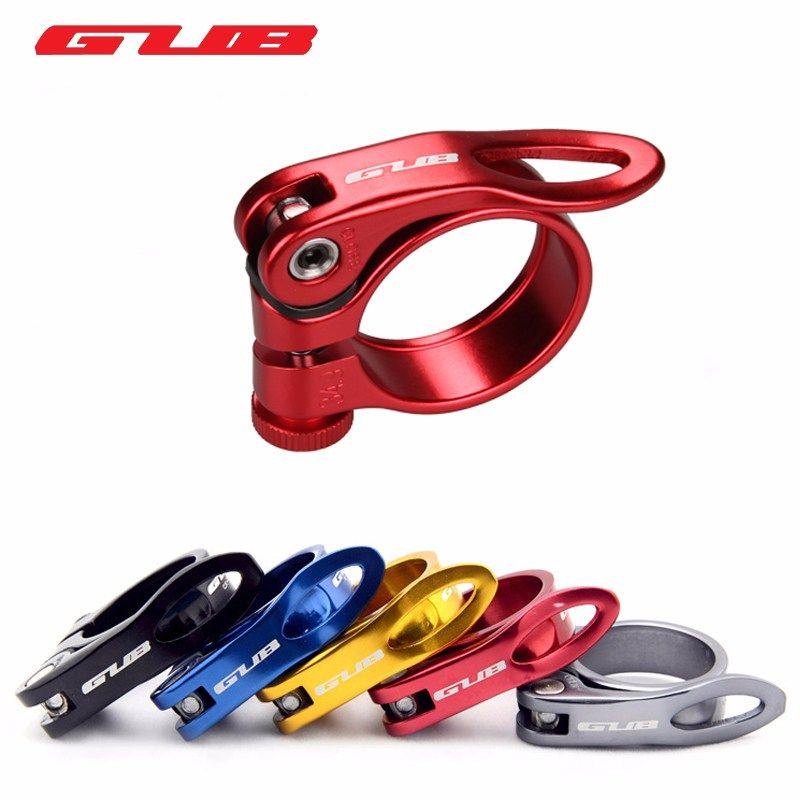 Road Bike MTB Seat Post Clamp Seatpost Clamp Collar Quick Release Size 34.9mm
