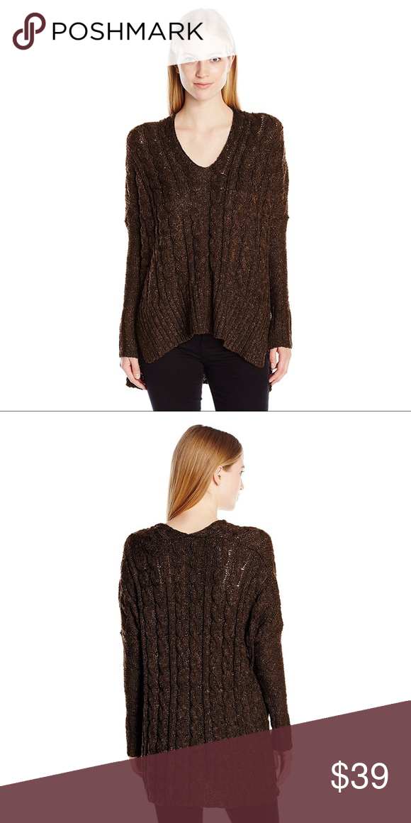 Oversized Cable Knit V-Neck Sweater | Winter night, Chocolate ...