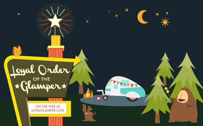 Glampers Download Desktop Wallpaper Camping Wallpaper