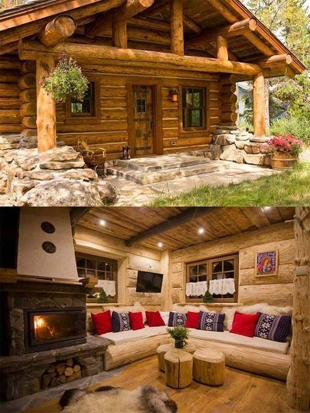 Beautiful logcabins office in pinterest log homes cabin and also rh