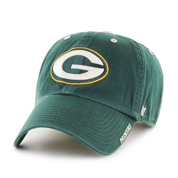 14cf8016 Green Bay Packers Ice Dark Green 47 Brand Adjustable Hat | Green Bay ...
