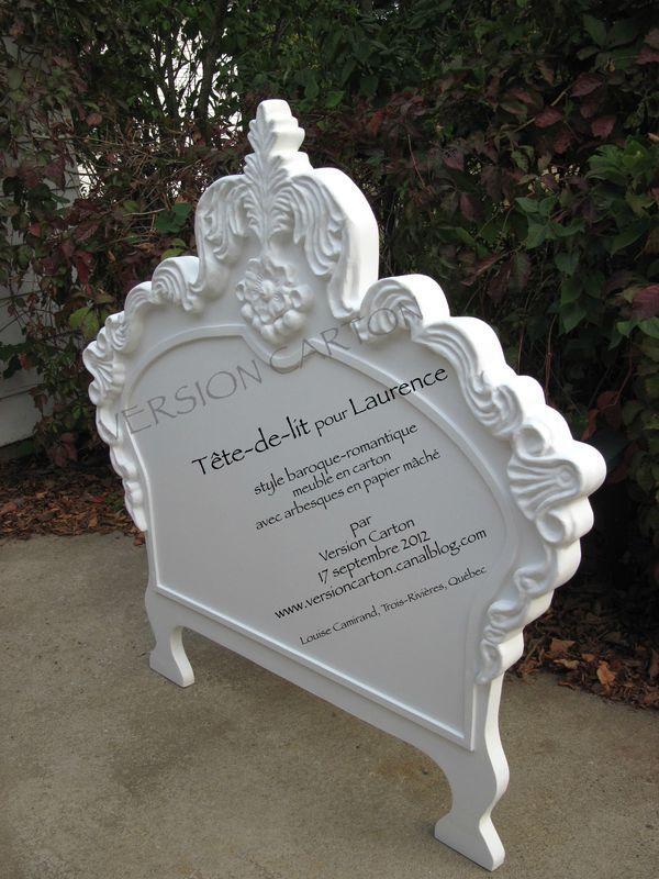 Tªte de lit baroque romantique en carton Chambre