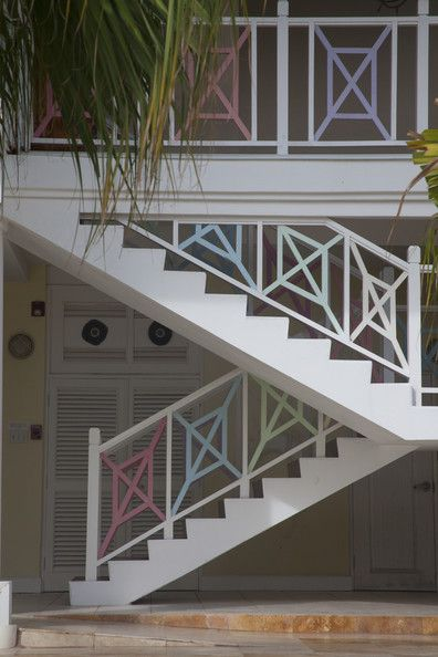 An outdoor stairway leading to a beach in Port Antonio, Jamaica