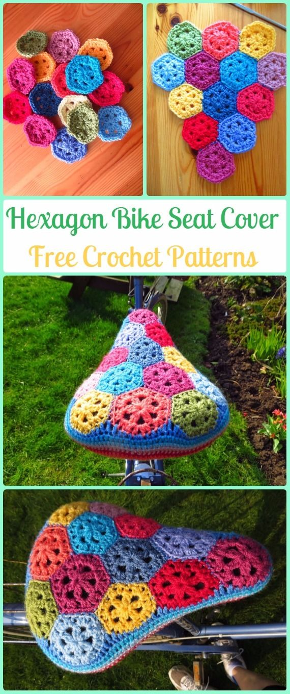 Crochet Hexagon Bike Seat Cover Free Patterns - Crochet Bicycle Fashion Patterns