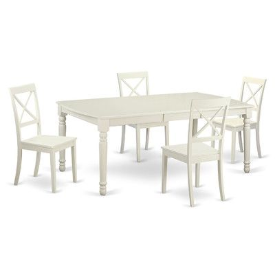 East West Dover 5 Piece Dining Set Finish White