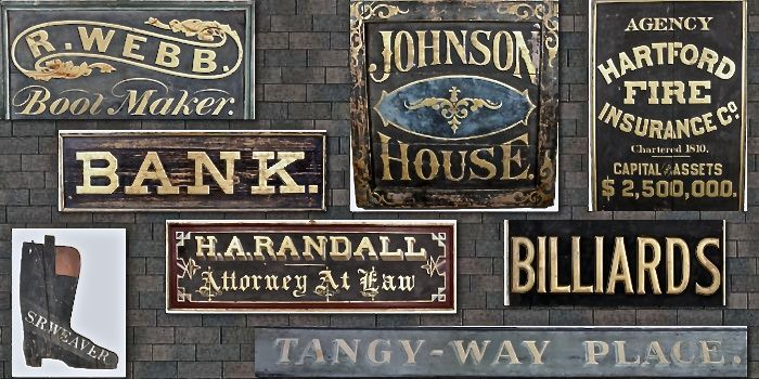 Collection Of Antique Trade Signs Tradesigns Antiques