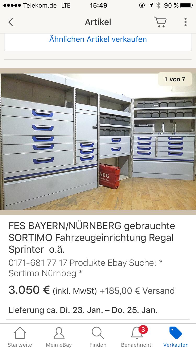 Pin Von Siegfried Spitzer Auf Sortimo Gebraucht Einrichtung Regal Ebay