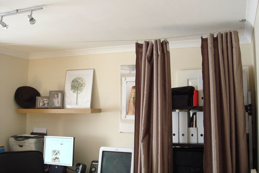 Basement ideas on pinterest 119 pins for Room divider curtain ikea