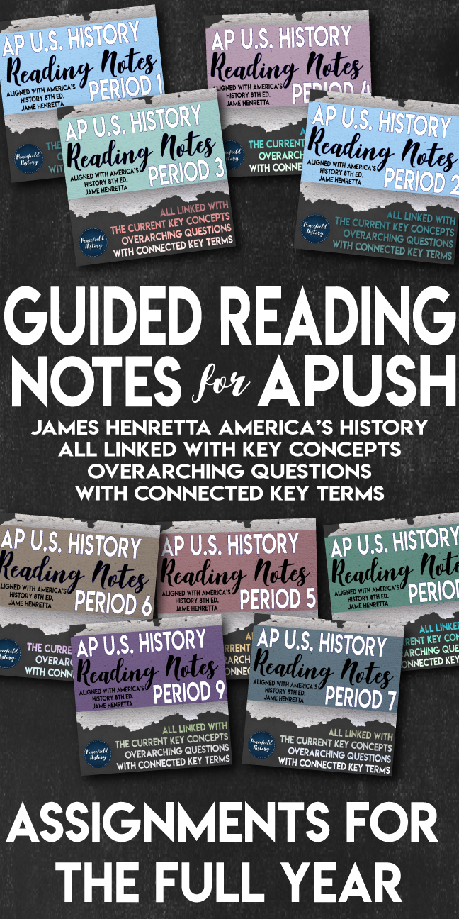 Apush full year guided reading worksheets americas history apush full year guided reading worksheets americas history henretta bundle fandeluxe Choice Image
