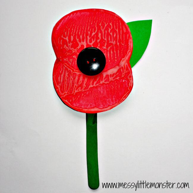 Remembrance Day Poppy Craft #poppycraftsforkids