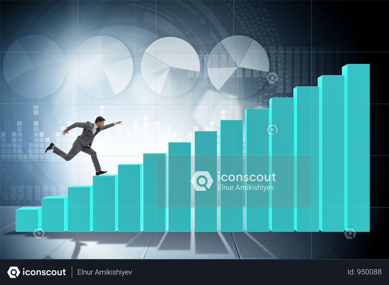 Premium Businessman Running Towards Economic Success Photo Download In Png Jpg Format Business Man Success Business Success