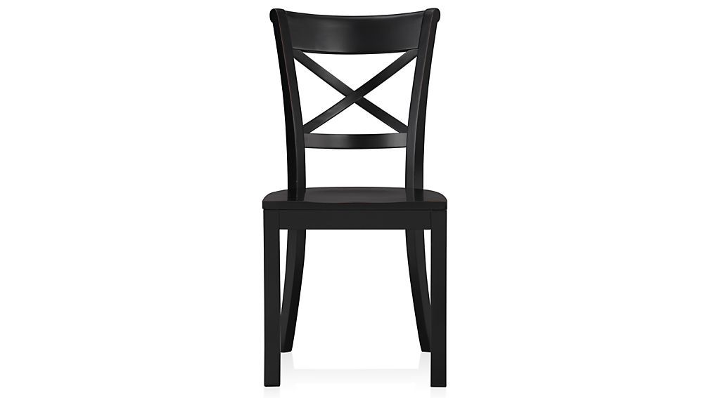 Vintner Black Wood Dining Chair And Cushion Wood Dining Chairs
