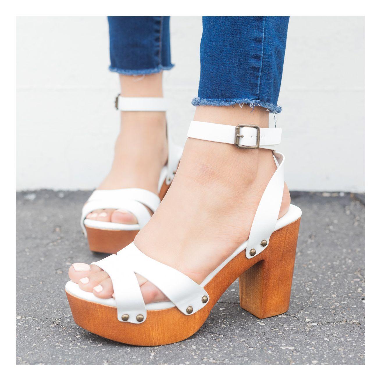 cc63376f7b86 Mini Studded Clog Heels