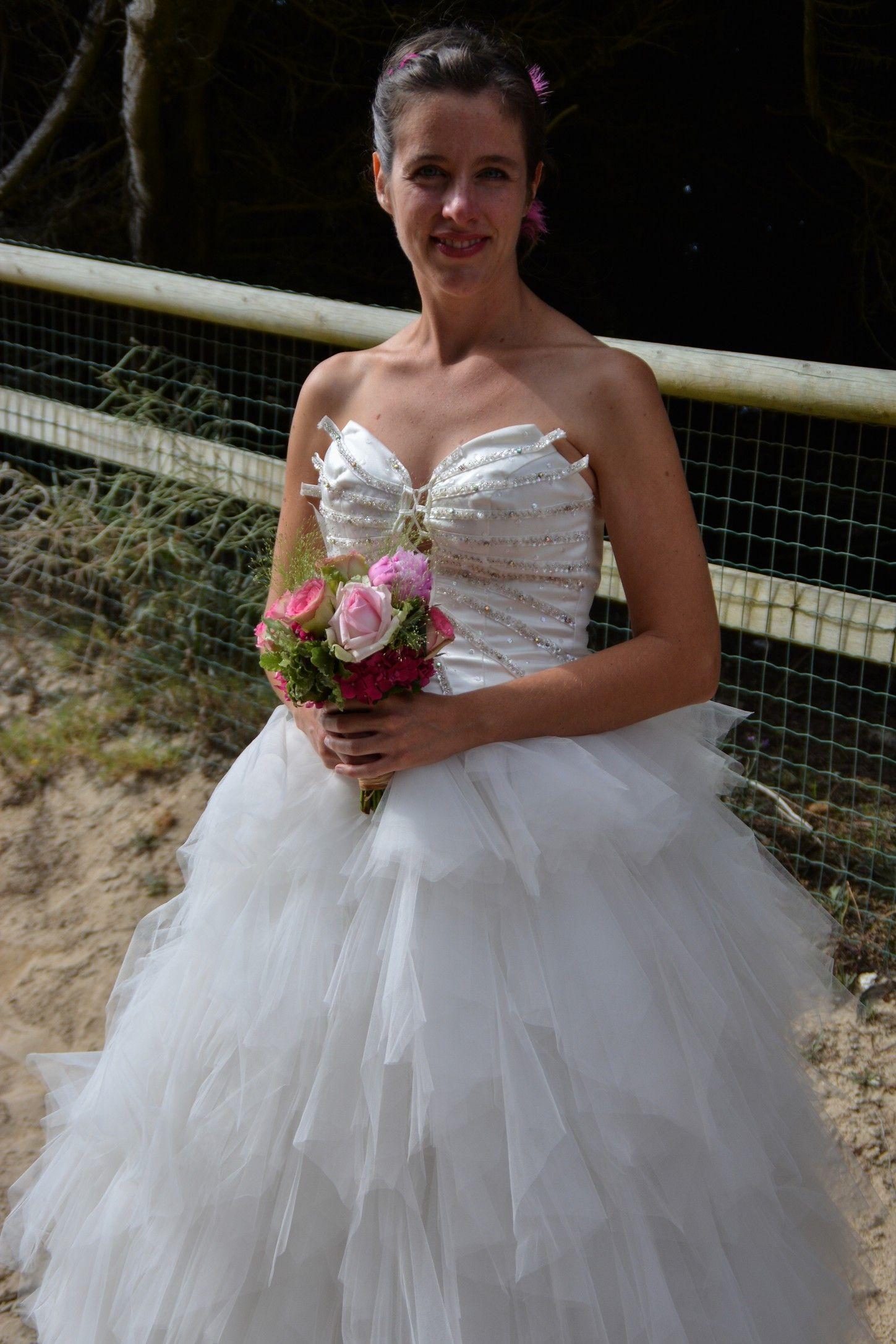 Robe de mariée en mouchoirs de tulle Mariage en Rose; 2015 ...