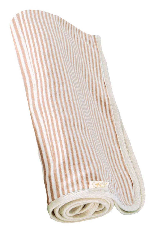 Organic Pinstripe Receiving Blanket in Cocoa #Blanket #KidsBaby #BedBathFurniture