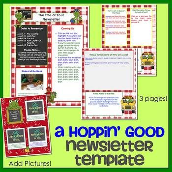 Frogs  Newsletter Template Word  Newsletter Templates Word