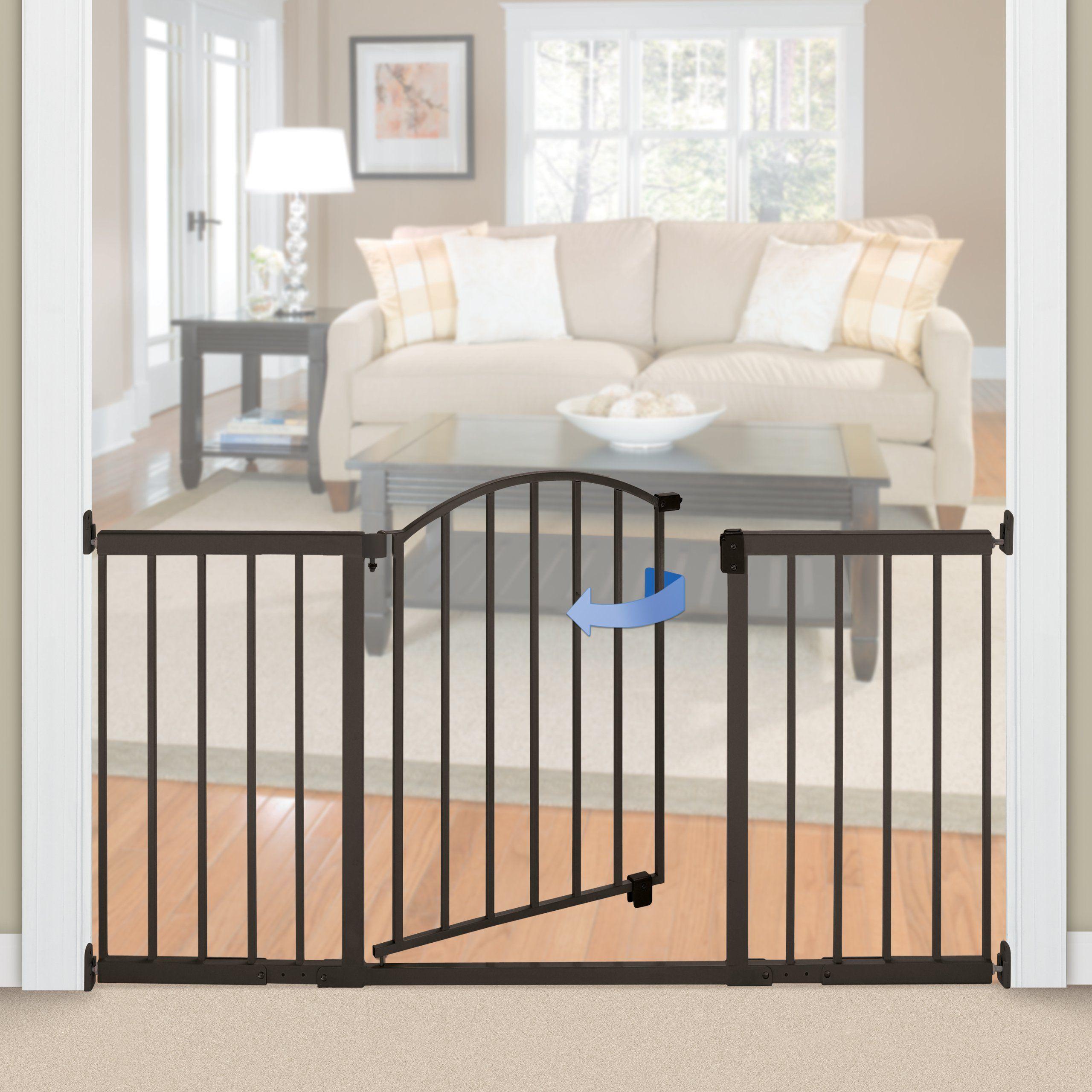 Summer Infant Metal Expansion Gate 6 Foot Wide Extra Tall Walkthru
