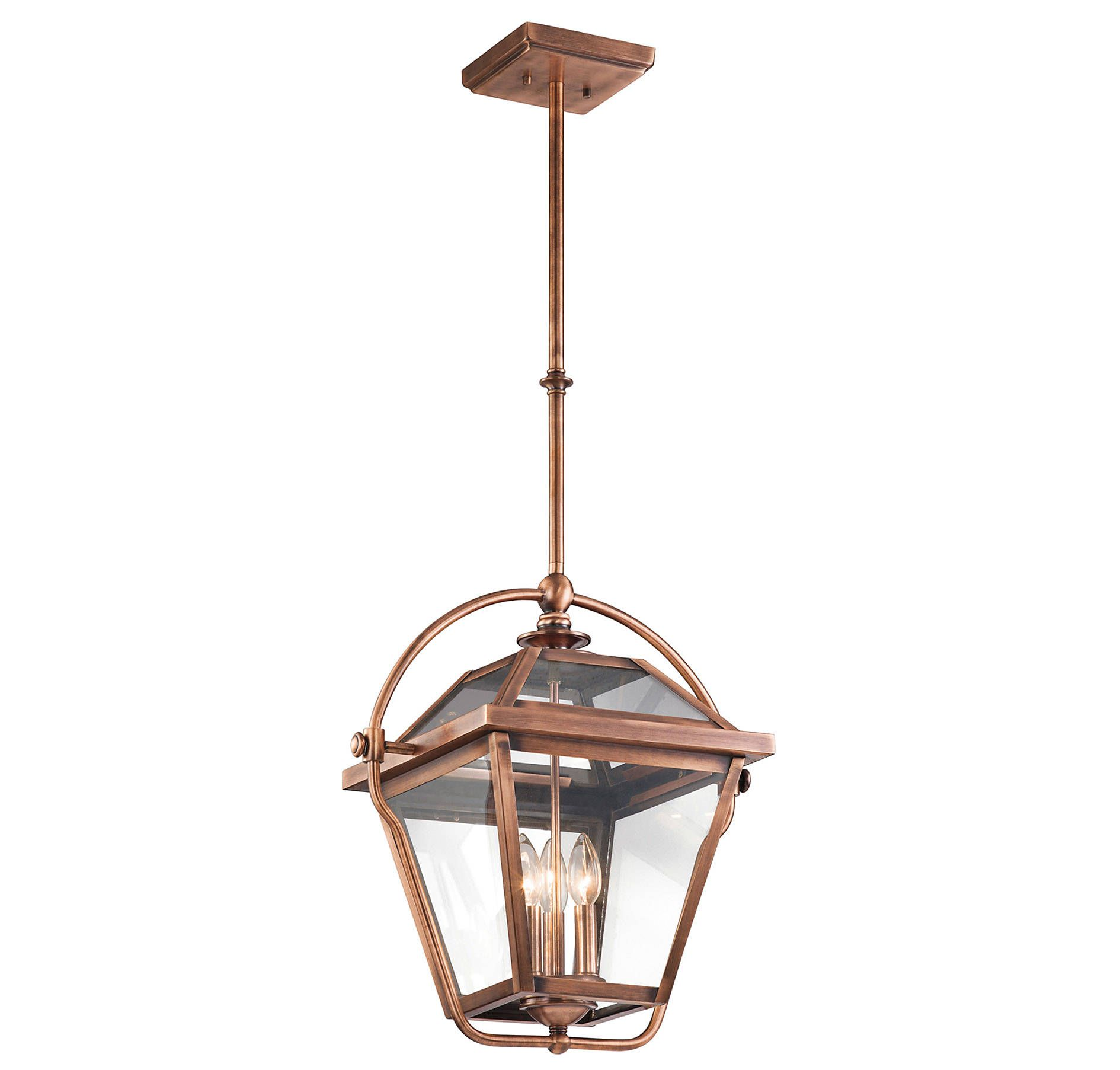 Kichler 42909aco Ryegate 3 Light Pendant In Antique Copper In Ceiling Lights Chandeliers Indoor Ch Copper Pendant Lights Copper Light Fixture Copper Lighting