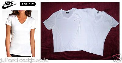 Women's Nike Dri-FIT High Performance Tech V-Neck Short Sleeve Shirts, Small, Run Active Gym