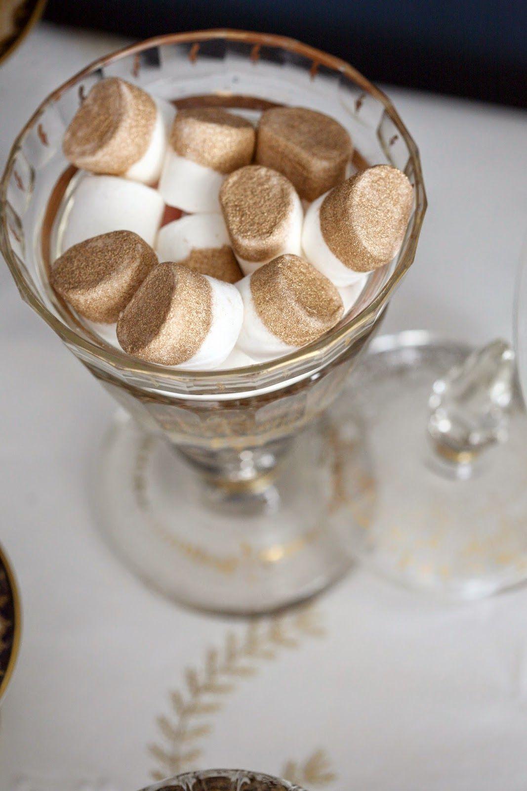 Gold Edible Glitter + Marshmallows = Masha Mallow for Shopkins Birthday Party