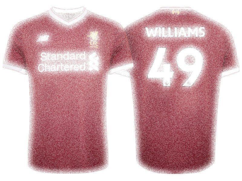 reputable site 07499 e8f24 Liverpool 17-18 Jersey Kit michael jordan williams Home ...